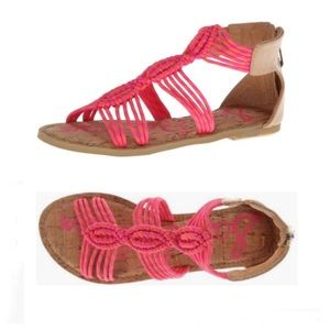 Sam Edelman Girls Grace Gladiator Flat Sandals
